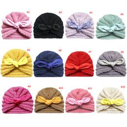Baby Boy Skull Crochet Beanies Australia - Baby Hat Kids Knitted Cap Crochet Solid Children Beanies Boys Girls Hats Headwear Toddler Caps Accessories