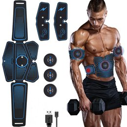 Wholesale Abdominal Muscle Stimulator Trainer EMS Abs Fitness Equipment Training Gear Muscles Electrostimulator Toner Exercise At Home Gym