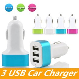 samsung usb charger port Australia - Dual Port Car USB Charger Adapter For Iphone X 8 Plus Samsung Galaxy Note8 USB Universal Socket 3 Port Car-charger 5V for cellphones