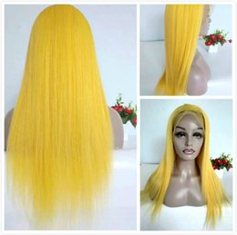 $enCountryForm.capitalKeyWord Australia - Malaysian Human Hair Lace Front Straight Wig Colored Yellow Long Braided Wigs For Black Women Cheap Glueless Full Lace Wig With Baby Hair