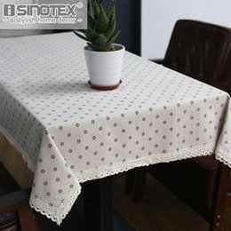 table tablecloths Australia - Home Textile Cloth Dandelion Linen Table Cloth Country Style Flower Print Multifunctional Rectangle Table Cover Tablecloth with Lace Edge