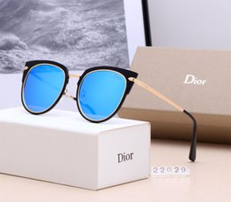 Crystal Box For Case Australia - High quality Luxury Mens Brand Designer Round Sunglasses For Men Women BANS UV Protection Sun Glasses With box case