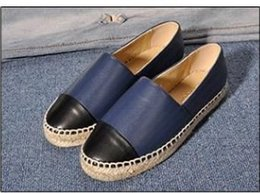 Women Canvas Shoes Colors NZ - 2019New Fashion Canvas and Real Lambskin women Espadrilles Flat Shoes Summer Loafers Espadrilles Size EUR34-42 Many Colors with Box h889
