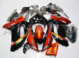 Zx6r Black Orange Australia - New ABS motorcycle bike Fairings Kits Fit For kawasaki Ninja ZX6R 636 2007 2008 07 08 6R 600CC bodywork set Fairing custom Orange black