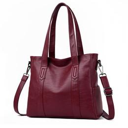 Tote Large Australia - Hot Sale Women Genuine Leather Shoulder Bag For Women Casual Tote Bag Soft Sheepskin Handbags Female Large Big Crossbody Bag Sac Y19061803
