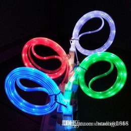 $enCountryForm.capitalKeyWord NZ - Brand Glow Visible LED Light Up Micro USB 2.0 Charger Data Sync Charge Cable