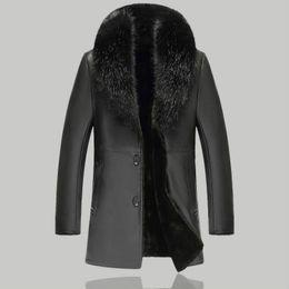 f54ed8ce00a37 Pelle di pelliccia faux online-Uomini Giacca invernale in pelle da uomo  casual in pelle