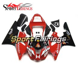 $enCountryForm.capitalKeyWord Australia - New Santander Red Black Lowers Motorbike Casing For Yamaha 2000 2001 YZF1000 R1 Complete Plastic Pieces R1 00 01 Bike Bodywork Panels