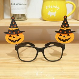 Wholesale Halloween Spectacle Frame Colorful Glasses Pumpkin Bat Glasse Toys For Kids Party Decorative Props Hot Sale yb O1