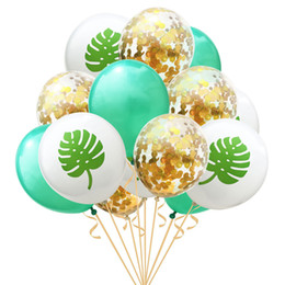 Decoration For 15 Party Australia - 12inch 15 pcs set Kawaii new Flamingo Pineapple Turtle Leaf cactus Balloons for Wedding Decoration Birthday Party Supplies