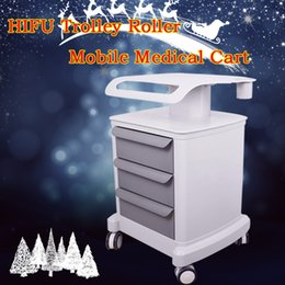 Spa Stand online shopping - Professional Trolley Roller Mobile Medical Cart With Draws Assembled Stand Holder For Beauty Salon SPA US Standard HIFU Skin Lifting Machine