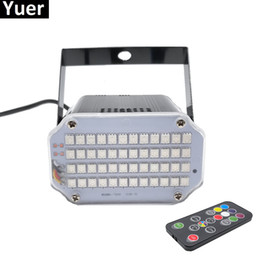 Blue shell lamp online shopping - Aluminium Shell LED Brighter DJ Disco Sound Activated Laser Projector Strobe Flash RGB Stage Lighting Effect Lamp Music Light