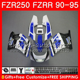 $enCountryForm.capitalKeyWord Australia - Body For YAMAHA FZRR FZR 250 250R 1990 1991 1992 1993 1994 1995 124HM.99 FZR250R FZR-250 FZR250 hot sale white 90 91 92 93 94 95 Fairing