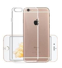 93905b87d51 Estuche para iPhone X 8 7 6 6 s Plus Clear Soft TPU Funda protectora de  silicona Cubierta transparente para iPhone 5 5S Volver Shell