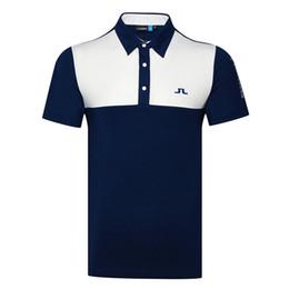 2019 Новые мужчины рубашка Спортивная с коротким рукавом JL Гольф футболка 4 цвета JL Гольф одежда S-XXL в выбор досуг Гольф рубашка Бесплатная доставка