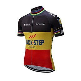 cycling team jersey quick step 2019 - QUICK STEP team custom made Cycling Short Sleeves jersey Summer Men's Cycling Short Sleeve Outdoor Sports Jersey To
