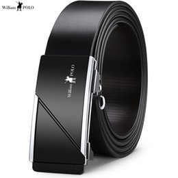 belts men gold NZ - Fashion Belt Men Designer Belt Silver Gold Black Luxury Long Automatic Leather Genuine Real Man Brand 2019