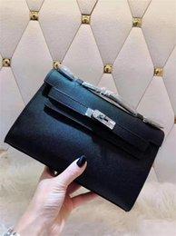 $enCountryForm.capitalKeyWord Australia - 19 hot women\'s platinum handbag,ladies lychee leather clutch, women\'s bags fashion trend solid color, detachable shoulder strap shoulder b