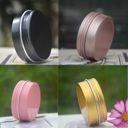 $enCountryForm.capitalKeyWord Australia - 150pcs 10g Colorful Cosmetic Aluminum Jars Pink Black Gold Personal Care Cream Mask Soap Packaging Container Pots