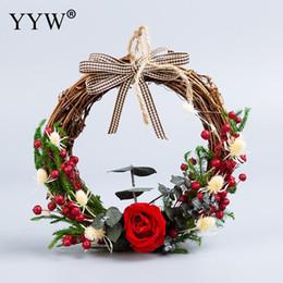$enCountryForm.capitalKeyWord Australia - Christmas Ornaments Hanging Wreath Props Wedding Decorations Dried Flower Christmas Wedding Decor For Home New Year Party Decor