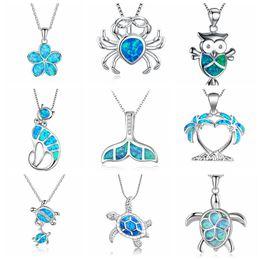 $enCountryForm.capitalKeyWord UK - Free Fan Enamel Choker Pendant Necklace For Women Cute Crab Owl Cat Animal Sea Turtle Necklace Jewelry Girls Gift Accessories