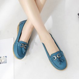 $enCountryForm.capitalKeyWord NZ - Women Flats Genuine Leather Lady Loafer Slip On Summer Shoes Woman 2019 New Adult Comfortable Sewing Female Trendy Brand MM-218