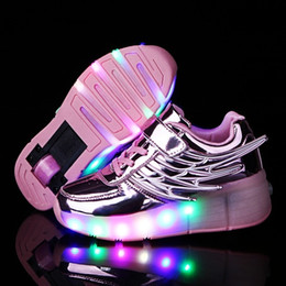 Wheel boys shoes online shopping - 2018 Heelys Boy Roller Skate Sneakers Kids Shoes with Wheel Shoe Negro Zapatillas Con Ruedas Chaussure LED Size cmMX190917