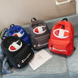 Laptops 15.4 online shopping - Champions Backpack Women Men Laptop Shoulder Bags Letter Print Backpacks Large Capacity Travel School Bag cm Color C422