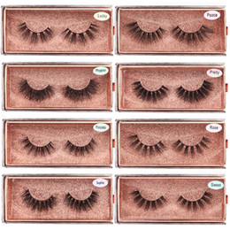 soft false eyelashes Canada - 3D Mink Eyelashes Wholesale Natural False Eyelashes 3D Mink Lashes Soft make up Extension Makeup Fake Eye Lashes 3D Series
