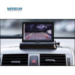 Discount foldable display - Yessun 4.3 inch Foldable Car Monitor TFT LCD Display Cameras Reverse Camera Parking System for Car Rearview Monitors NTS