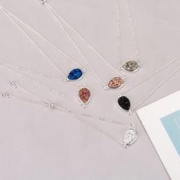 $enCountryForm.capitalKeyWord Australia - MICHAEL KENDRA Drusy Druzy Bracelet Waterdrop Resin Druse Adjustable Chain Bracelet Friendship Wristband Lady Jewelry Gift