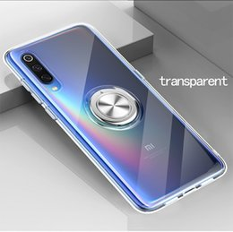 Transparent Soft Case Kickstand Australia - Transparent MI9 mobile phone case Ring bracket MI 8 protective case TPU soft shell anti-fall Red rice Note7 mobile phone case