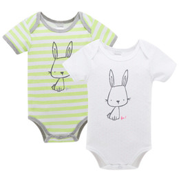 6c166915aff0 Bunny Romper Australia - Newborn Short Sleeve Romper Toddler Rabbit Print  Jumpsuits Baby Summer Playsuits Toddler