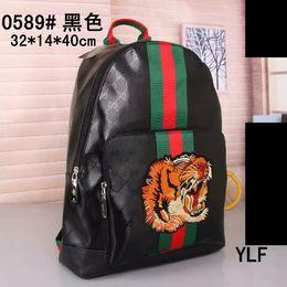 39a17468823 High quality men and women fashion fabric pattern handbags storage shoulder  bag tiger head animal pattern shoulder bag backpack