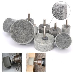 wholesale nylon fiber Australia - 5Pcs 20-60mm Nylon Fiber Grinding Head 6mm Shank Abrasive Tool for Metal Stone