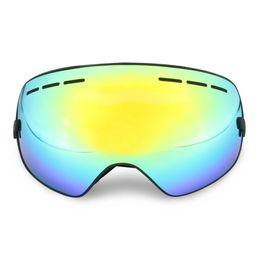 Discount ski goggles anti fog - Ski Goggles Double Anti-fog Outdoor Mountaineering Winter Snowboard Mask Snowmobile Goggles Skiing Glasses Prevention Sn