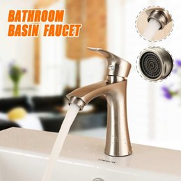 modern kitchen faucets Australia - Zinc Alloy Bathroom Basin Sink Water Faucet Spout Taps Modern Settled Single Handle Cold Water Kitchen Faucets Deck Mounted