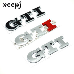 car letter badges 2019 - Car-styling Word letter 3D Logo Car Sticker SPORT Emblem Badge Door Decal Auto Accessories for GTI cheap car letter badg