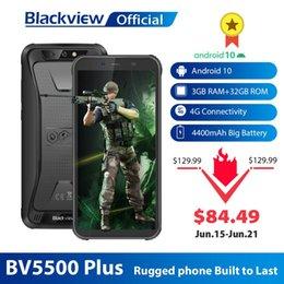 "Wholesale Blackview 2020 New BV5500 Plus IP68 Waterproof 4G Mobile Phone 3GB+32GB Android 10.0 5.5"" Screen 4400mAh Rugged Smartphone"