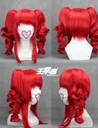 Lolita Curly Wigs Australia - Japanese fashion original red lolita long curly anime cosplay wigs female L57#