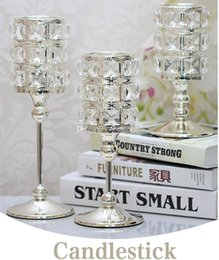 candlestick silver Australia - High Quality Crystal Candlestick Luxury Crystal Silver Wedding Deco Candle Holder Handmade Crystal Candle Holder Home Decorative ML003