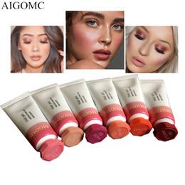 Painting Faces Australia - AIGOMC Makeup Liquid Blusher Sleek Silky Cloud paints Blush Lasts Long 6 Color Natural Cheek Blush Face Contour Make Up