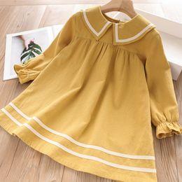 $enCountryForm.capitalKeyWord Australia - Autumn new Korean fashion children's skirt College wind lapel girls long-sleeved dress tide fan