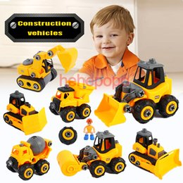 Toy consTrucTion car online shopping - 20cm Big Diecast Truck Plastic Construction Vehicle Engineering Cars Excavator Disassemble Model Toys for Children Boys