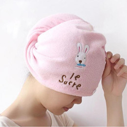 $enCountryForm.capitalKeyWord Australia - High quality Womens Girls Lady's Magic Quick Dry Bath Hair Drying Towel Head Wrap Hat Makeup Cosmetics Cap Bathing Tool L30