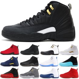 game master Australia - new 12 Gym Red 12s College men basketball shoes Michigan WINGS bulls Flu Game the master black white taxi Sports trainer sneaker