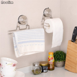 $enCountryForm.capitalKeyWord Australia - Noolim Rustproof Stainless Steel Suction Cup Toilet Roll Paper Holder Wall Mounted Tissue Towel Hanger For Bathroom And Kitchen T190711