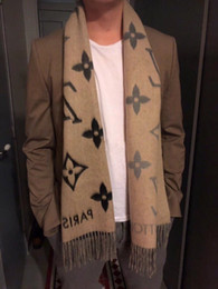 Original silk scarves online shopping - New Luxury Design Men Scarf Cashmere Scarf Fashion Style Letter Gradient Original Label Winter Thick Bandana Ladies Scarf Warm Cashmere