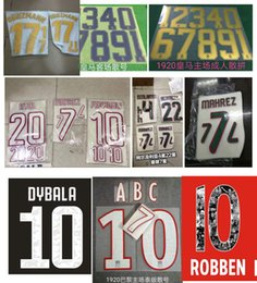 football clubs NZ - NEW 2019 Club ROME Jersey Number fonts 19 20 RONALDO MESSI Football club various numbers 100 Start Wholesale Support Customization