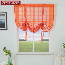 fixing blinds Canada - ICECUR Modern short curtains for kitchen plaid sheer tulle kitchen curtains living room Transparent window blinds voile tulle